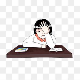 q版女孩图片动漫人物动漫卡通图行天下图库看书的卡通女孩图片图片