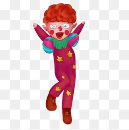 愚人节小丑卡通形象 鬼脸表情 免扣元素图片