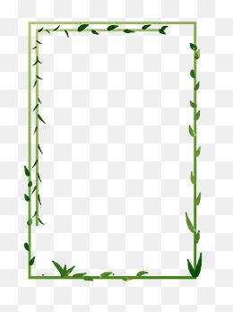绿色藤曼绿色春天手绘边框
