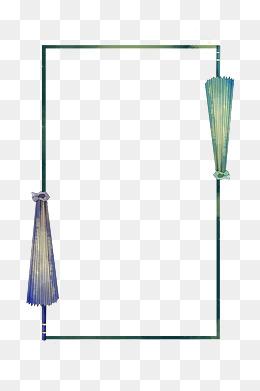 雨伞清明节手绘边框