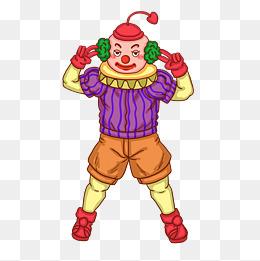 小丑愚人节剪刀手卡通人物图片