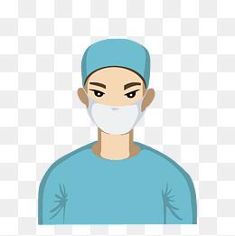 戴口罩医生插画图片