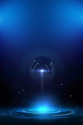 藍色商務科技海報背景