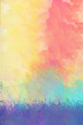彩色水彩簡約五四青年節廣告背景