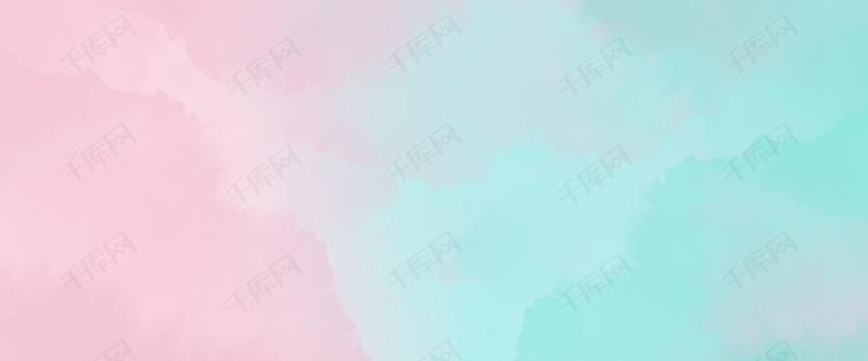 简约唯美清新水彩底纹粉蓝色背景图片免费下载