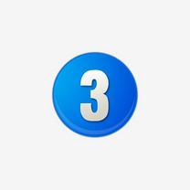 蓝色的数字序号3图标