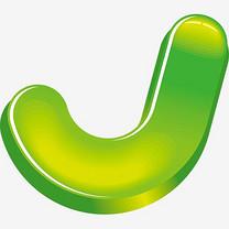 绿色矢量字母J