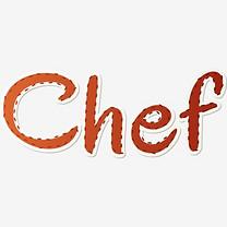 褐色创意chef艺术字