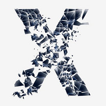 创新科技感碎片字母装饰矢量图