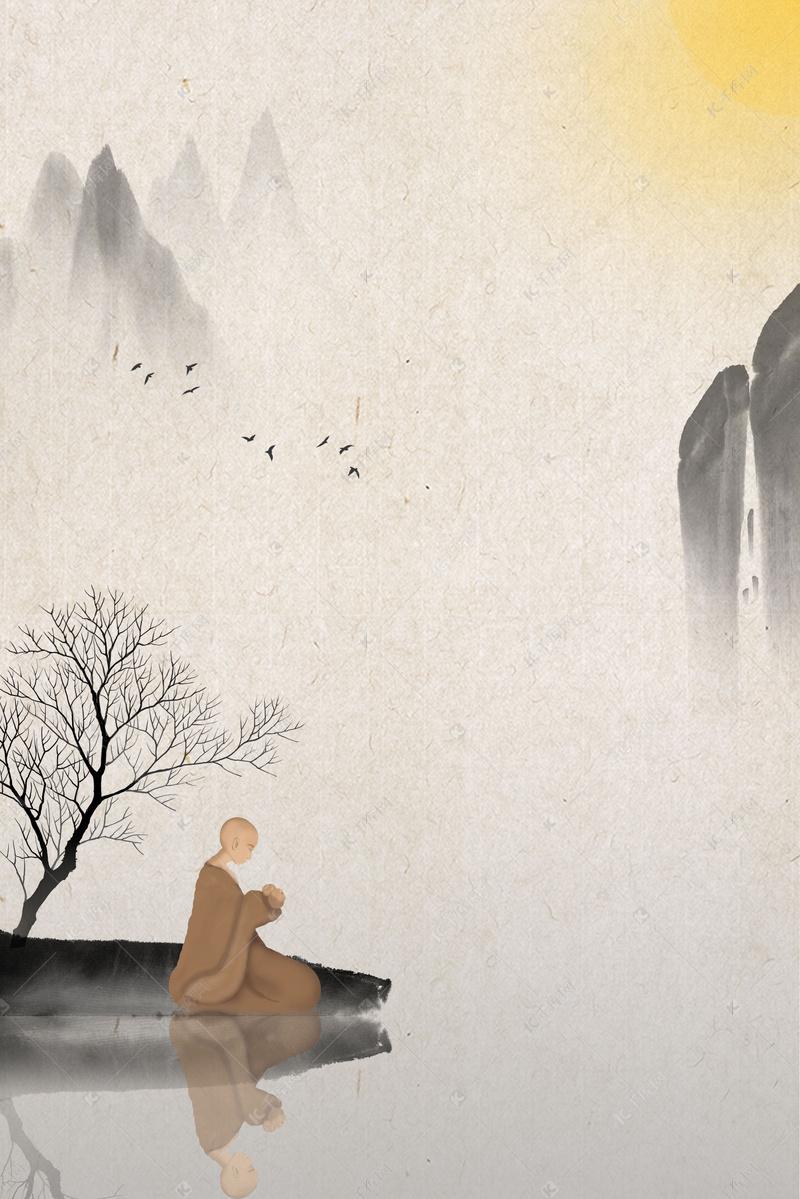 禅佛文化海报背景图背景图片免费下载_海报banner/psd_千库网(图片编号5960553)