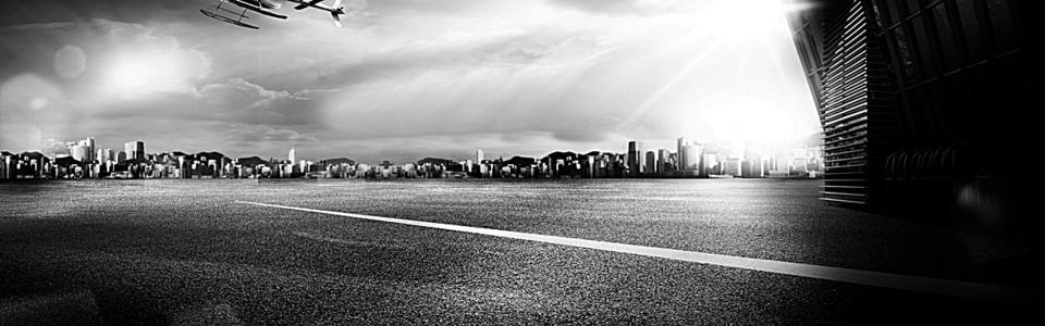 黑白城市大气城市背景模板PSD分层