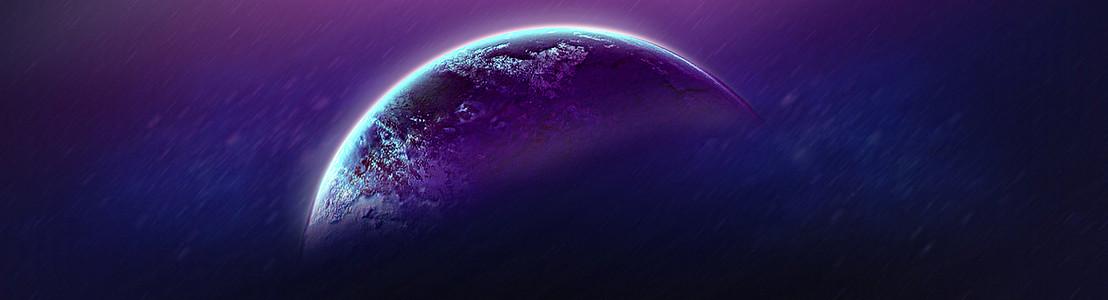 科幻月球星球大战电影海报背景模板PSD分层