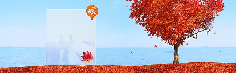 秋季上市淘宝新品banner壁纸