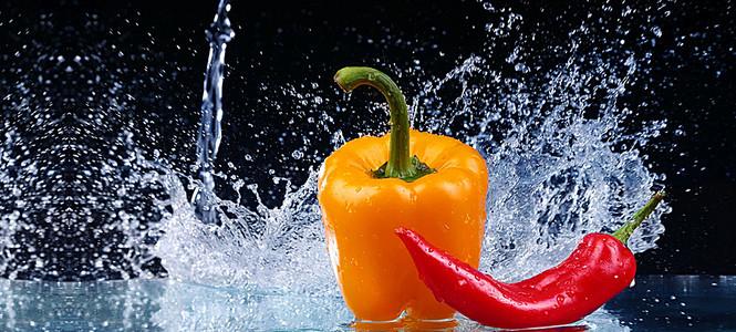 简约大气创意蔬菜海报背景