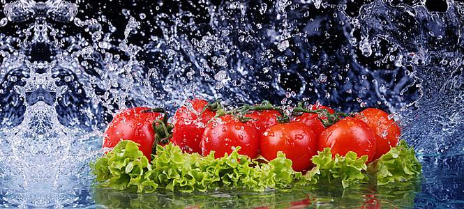 简约大气创意蔬菜水果海报背景