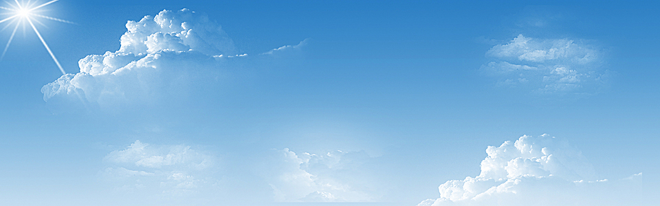 蓝色天空白云淘宝海报背景