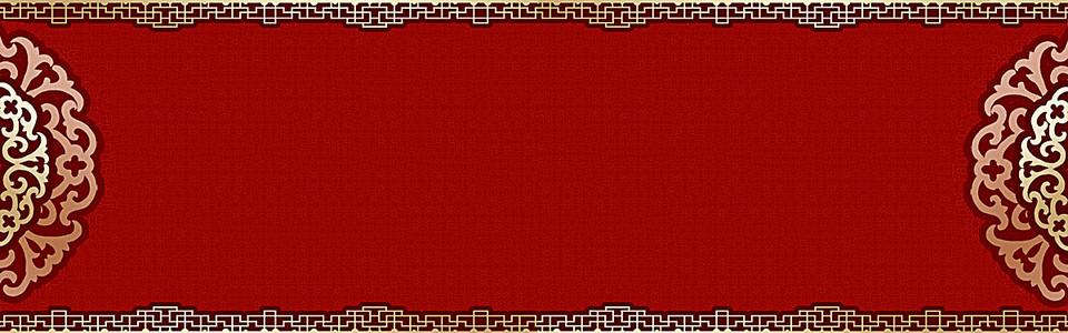 中国红大气简约海报背景