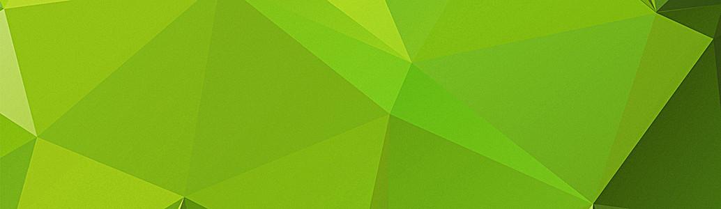 绿色几何多边形创意banner展板