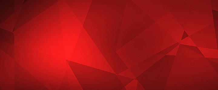 红色几何图形背景图