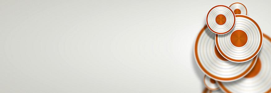 科技背景banner广告设计