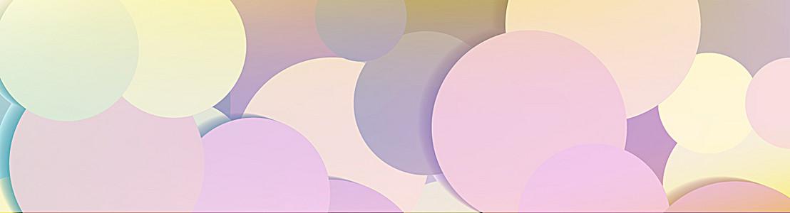 彩色图案banner背景
