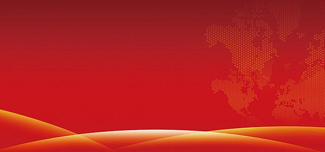 红色花纹会议背景
