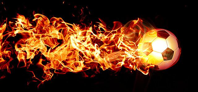 分层火焰足球图片背景banner