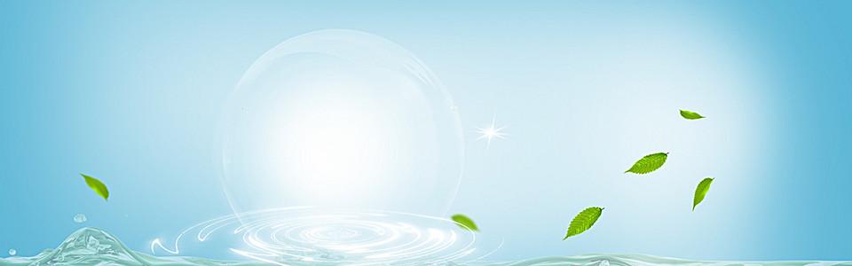 水润保湿系列化妆品图片背景banner