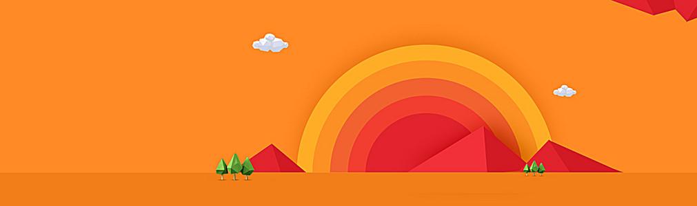 双11创意不规则多边形banner背景