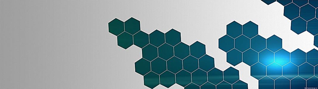 数码电商科技感六边形组合企业高科技大图