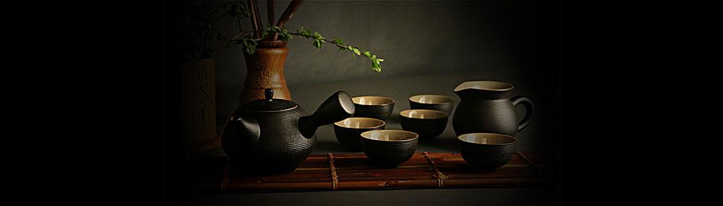 中国传统茶具背景