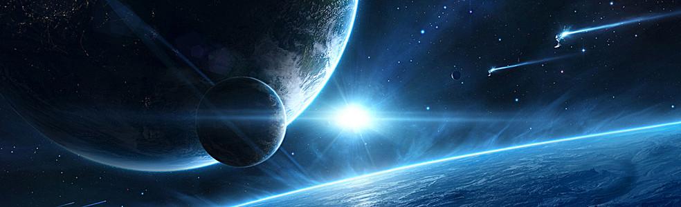 太空设计banner背景
