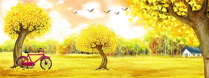 金色树木背景