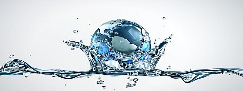 水状地球艺术抽象设计海报