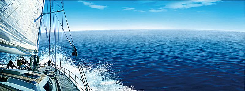 帆船海浪海报