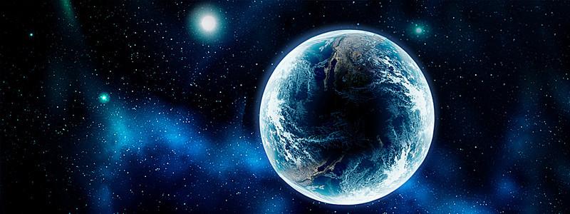 星空地球背景