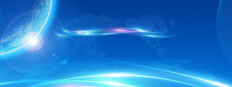 蓝色科技背景海报