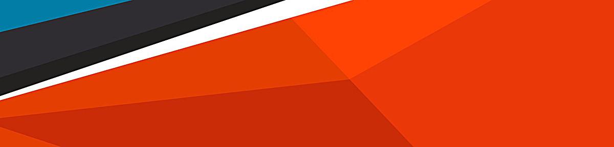 不规则几何体banner创意设计