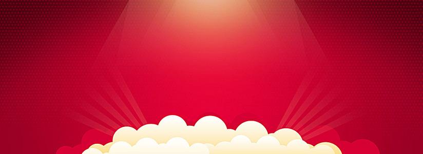 红色中国风纯净底纹背景