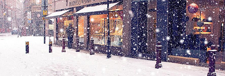 雪景banner创意设计