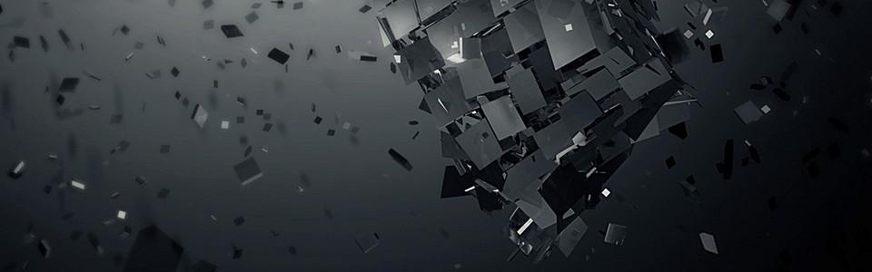 黑色几何金属banner背景图