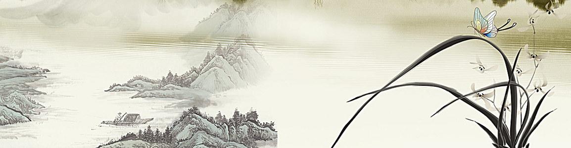 古风背景 (1920*500) 水墨画
