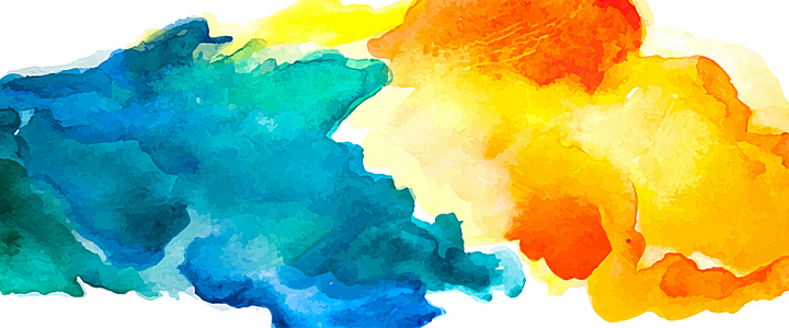 蓝色与橙色墨迹背景