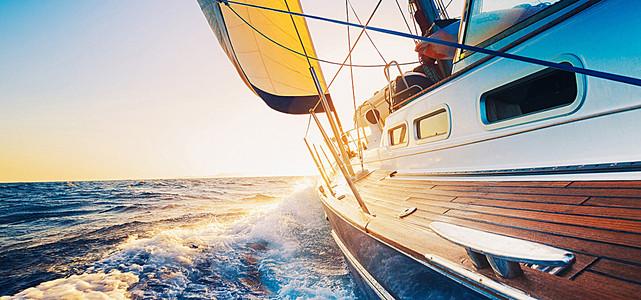 海边高清船背景