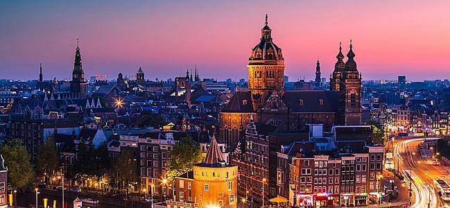 城市夜色海报背景