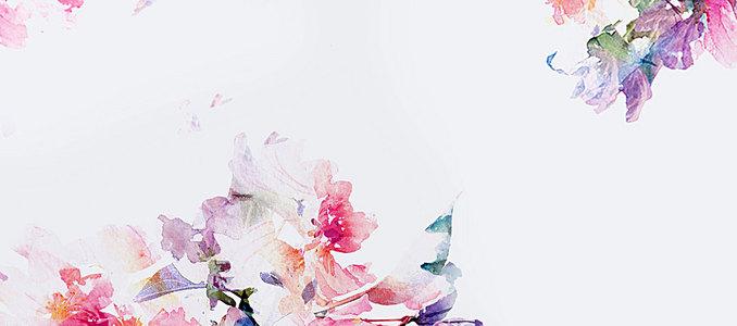 淘宝水彩花朵背景