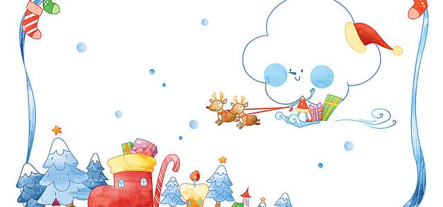 冬季手绘卡通背景