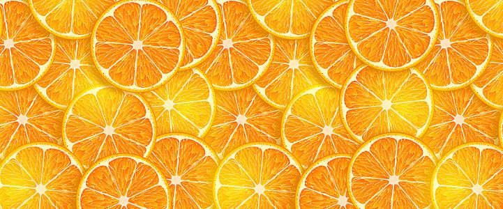美味的橙子切片背景