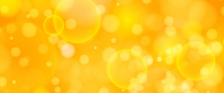 黄色绚丽泡泡背景