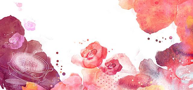 水墨花朵背景